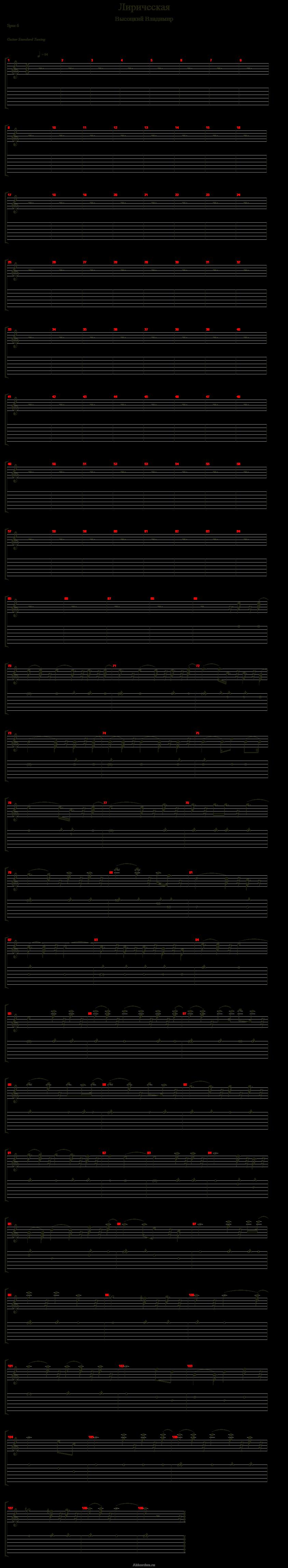экстремальные, аккорды высоцкого баллада о любви зрения поддерживающая